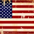 Stock Photo: Grunge americflag