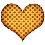 Grunge mosaic heart on white — Stock Photo #27913539