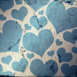 Stock Photo: Scratch hearts pattern