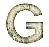 Grunge letter g — Stock Photo