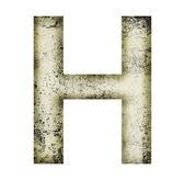 Grunge letter h — Stock Photo