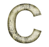 Grunge letter c — Stock Photo