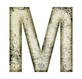Grunge letter m — Stock Photo