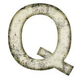 Grunge letter q — Stock Photo