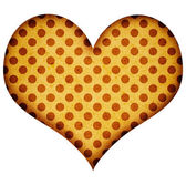 Grunge mosaic heart on white — Stock Photo