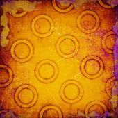 Grunge yellow circles background — Stock Photo