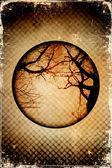 Tło grunge z zdjęcie suche drzewa — Zdjęcie stockowe