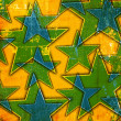 Grunge background with stars — Stockfoto