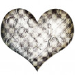 Iron heart background — Stock Photo