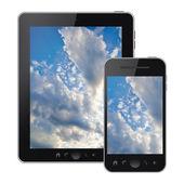 Teléfono móvil aislada sobre fondo blanco — Foto de Stock
