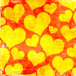 Stock Photo: Orange hearts