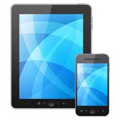 Tablet pc ve cep telefonu — Stok fotoğraf