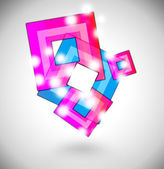 Pink and blue squares — Stock Photo