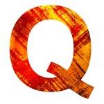 Grunge letter q — Stock Photo #28114589
