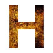 Lettera h — Foto Stock