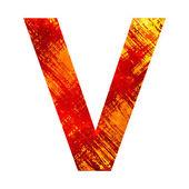 Grunge letter v — Stock Photo