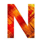 Grunge alfabet n — Stockfoto