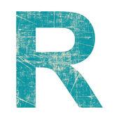 Grunge letter r — Stock Photo
