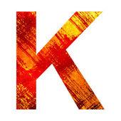 Grunge letra k — Foto Stock
