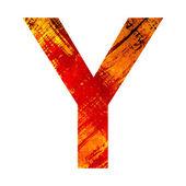 Grunge letter y — Stock fotografie