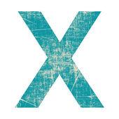 Grunge brief x — Stockfoto