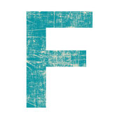 Grunge letter f — Stock fotografie