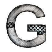 Iron letter g — Stock Photo
