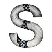 Iron letter s — Stock Photo