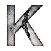 Iron letter k — Stock Photo