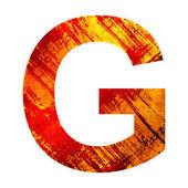 Grunge letra g — Foto Stock
