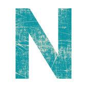 Granica literę n — Zdjęcie stockowe