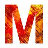 Ilustracja list m — Zdjęcie stockowe