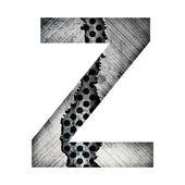 Iron letter z — Stock Photo