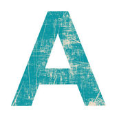 Grunge letter a — Stock Photo