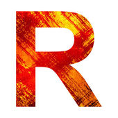 Grunge letra r — Foto Stock
