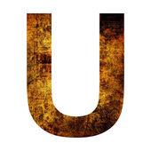 Grunge letter u — Stock Photo