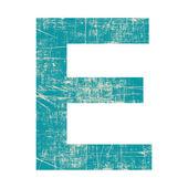 Grunge letter e — Stock Photo