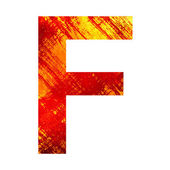 Granica litera f — Zdjęcie stockowe