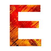 Ilustracja list e — Zdjęcie stockowe