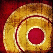 Grunge red circles background — Stock Photo