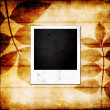 Grunge photo frame background — Stock Photo