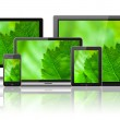 Various electronic devices with green screens — Stock Photo #28125293