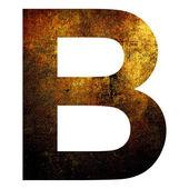 Grunge letter b — Stock Photo