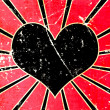 Grunge black heart background — Stockfoto