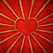 Grunge red heart background — Stock Photo