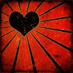Grunge vector heart background — Stock Photo