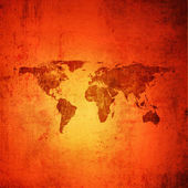 Dark grunge background with world map — Stock Photo