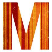 Grunge alfabet m — Stockfoto