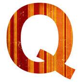 Grunge letter q — Stock fotografie