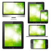Set of modern digital devices — Stock Photo
